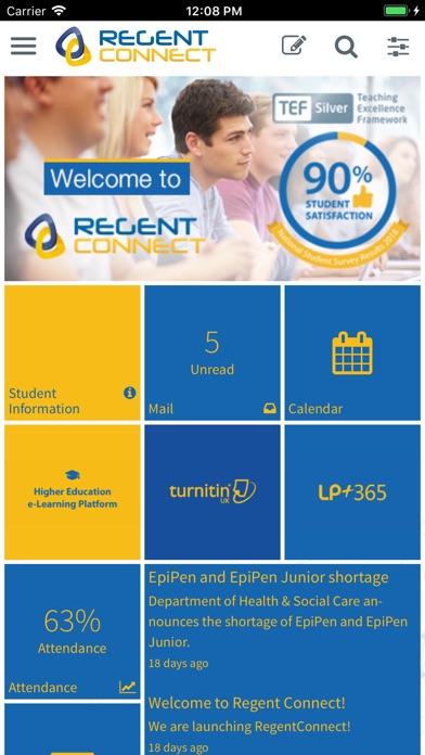 RegentConnect screenshot 1