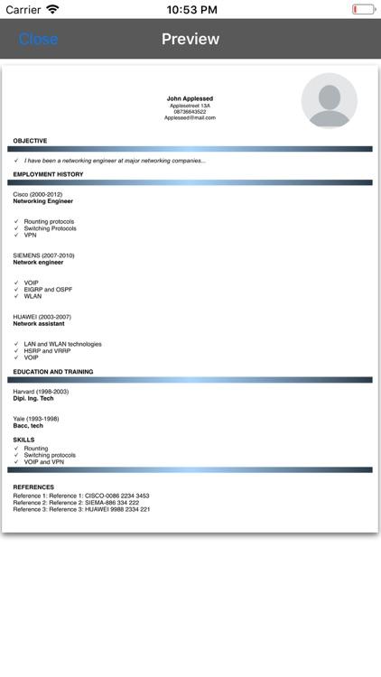 Resume Builder Pro screenshot-3