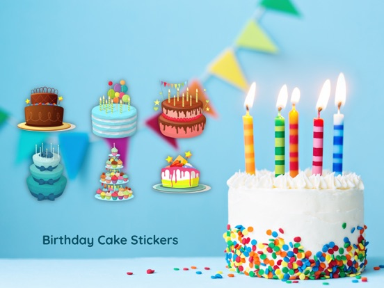Screenshot 1 For 3D Happy Birthday Cake Sticker