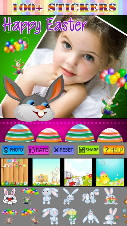 Easter Photo Frame and Sticker