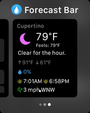 Forecast Bar Screenshot