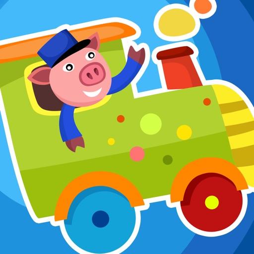 Активная! Игра Для Детей, Чтобы Учиться И Играть С Железнодорожного И Животных