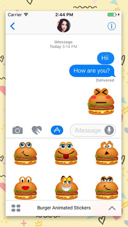 Animated Burger Emoji Stickers
