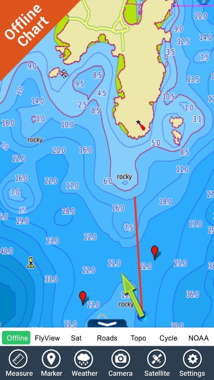 Corsica Nautical Charts GPS HD screenshot-2