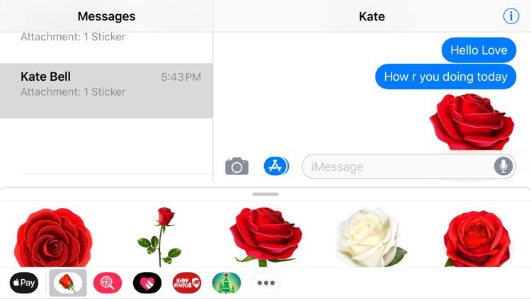 Romantic Roses Lovely Sticker screenshot-4