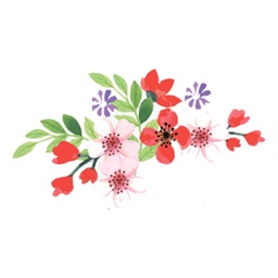 Hand drawn flower - stickers