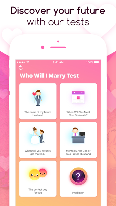 Who Will I Marry Test Screenshot on iOS