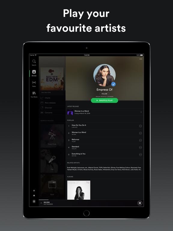 Spotify Music Screenshots