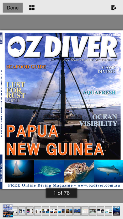 OZDiver Magazine screenshot three