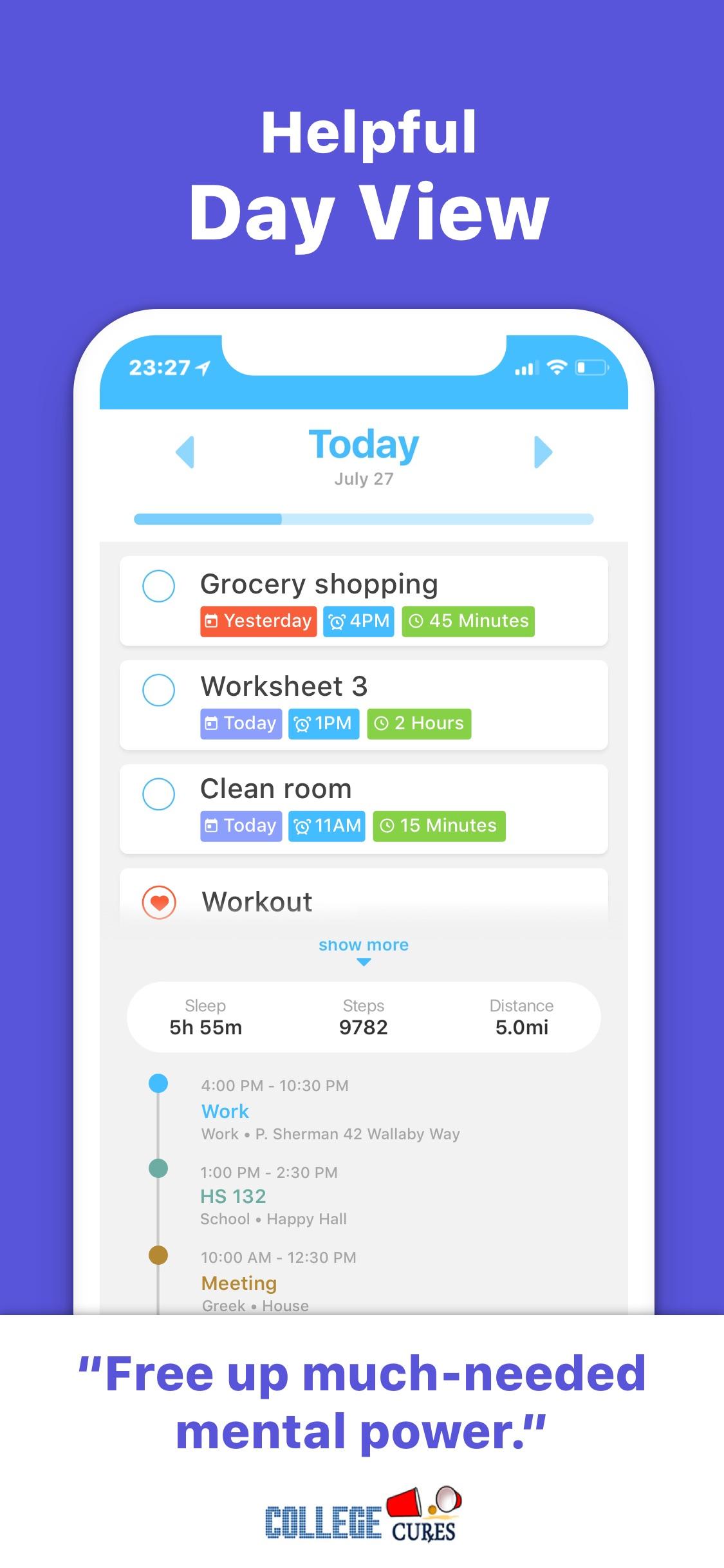 Screenshot do app WeDo: Your second brain.