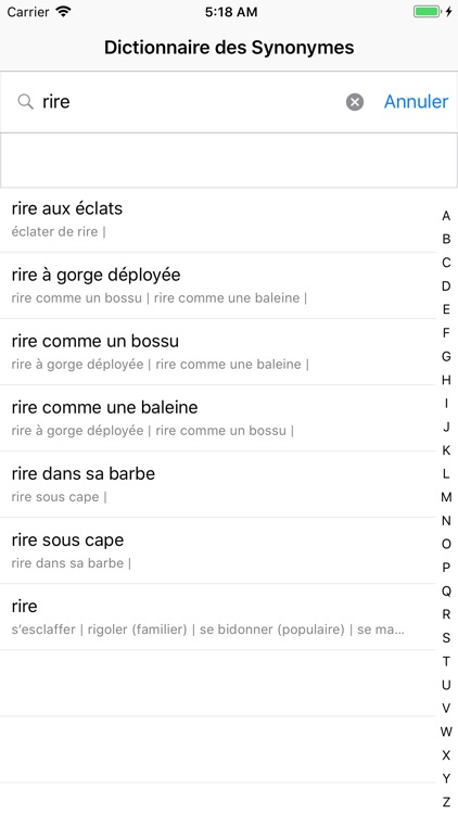 Dictionnaire des Synonymes screenshot-3
