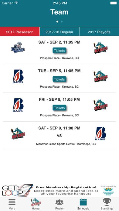 Kelowna Rockets Official App screenshot four