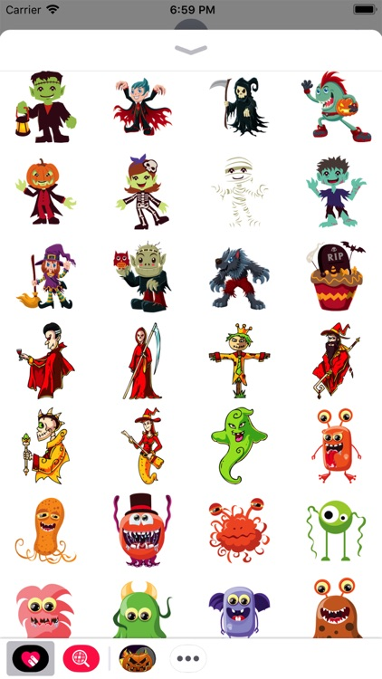 Scary Ghost n Zombie Stickers screenshot-3