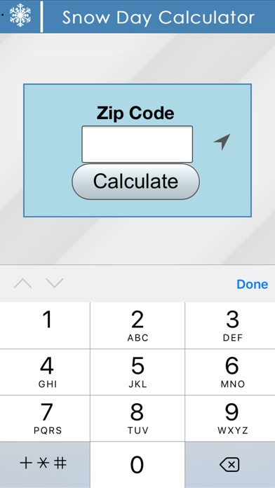 Snow Day Calculator Screenshot