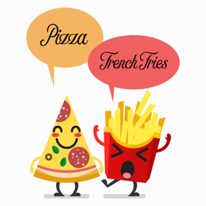 Pizza and French Fries Stickers Pack app