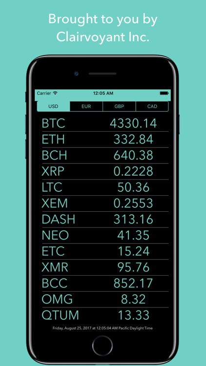 Crypto Monitor: Bitcoin Ticker screenshot-4