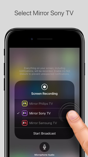 mirror iphone to tv mirror for sony tv on the app 15695