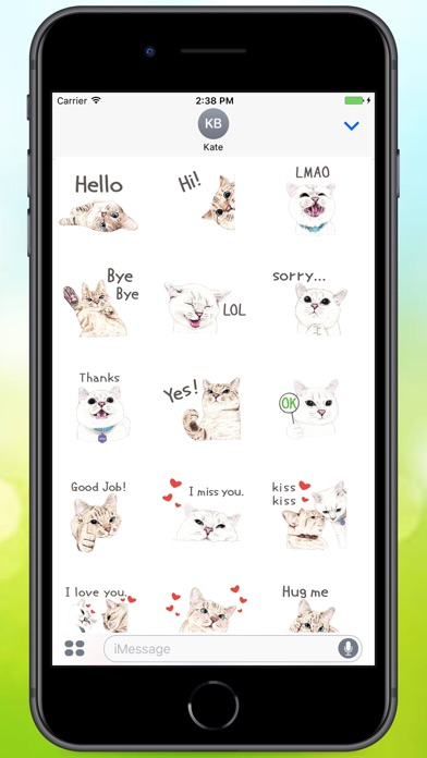 Screenshot for Text Cats Stickers in Greece App Store
