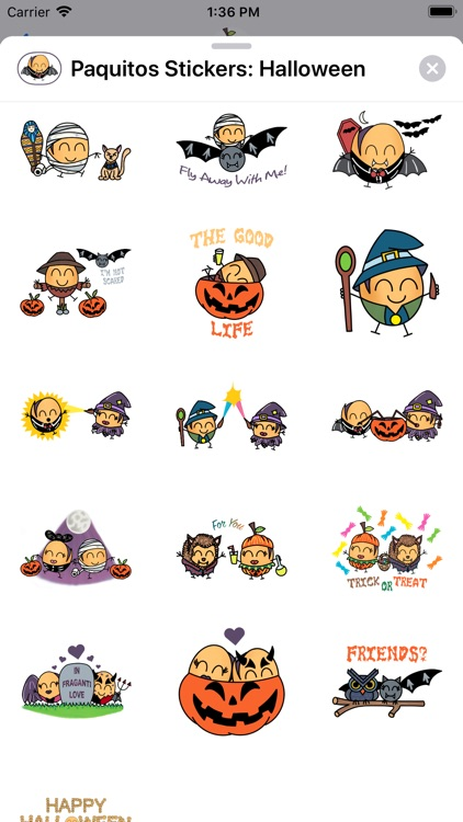 Paquitos Stickers: Halloween