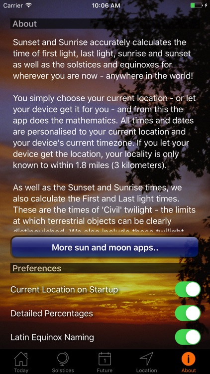 Sunset and Sunrise Times screenshot-4