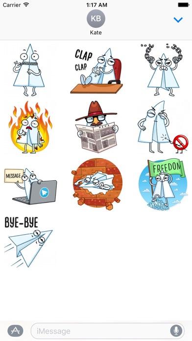 Paper Airplane Emoji Sticker screenshot 2