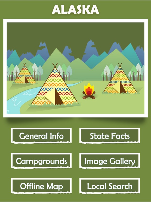 Alaska Campgrounds Offline-ipad-1