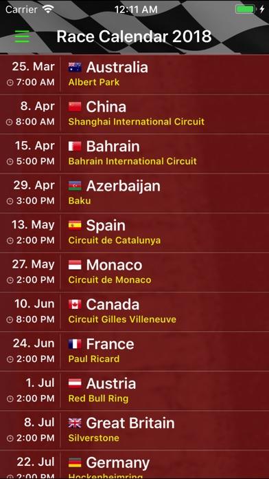 Race Calendar 2018 Screenshot 3