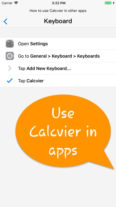 Calcvier - Keyboard Calculator Screenshots