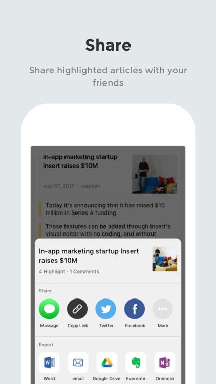 LINER: Highlighter for Web screenshot-3