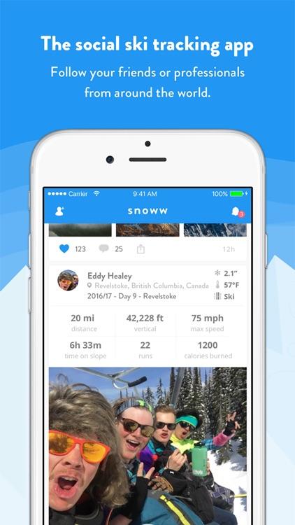 snoww: social ski & snowboard tracker