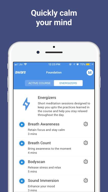 Meditation by Aware screenshot-5