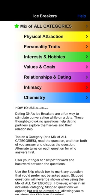 Ice breaker questions for online dating