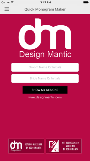 Quick monogram maker on the app store screenshots spiritdancerdesigns Choice Image