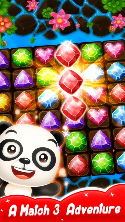 Panda Gems - Match 3 Game screenshot-0
