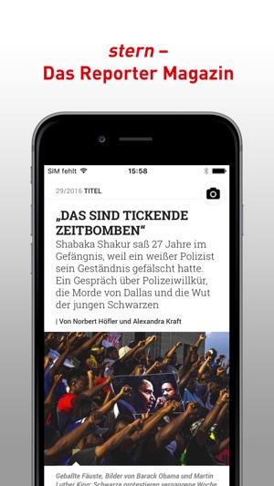 stern - Das Reporter-Magazin Screenshot