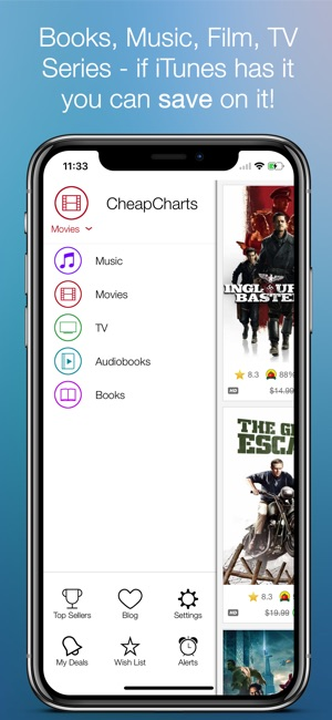 CheapCharts: Your Media Deals Screenshot