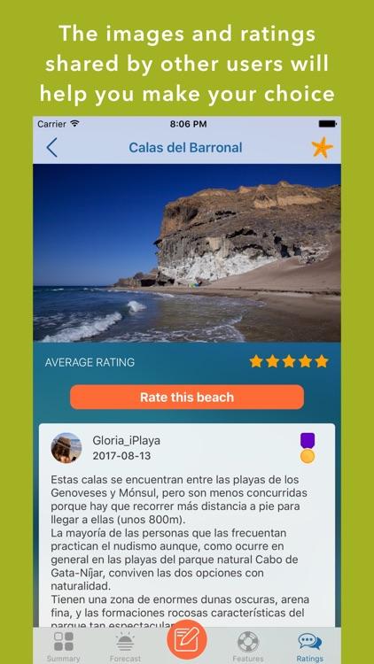 iPlaya+ Beach weather forecast screenshot-4
