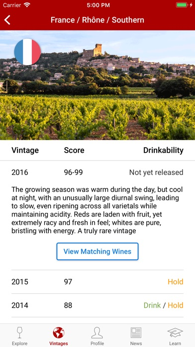Wineratings review screenshots