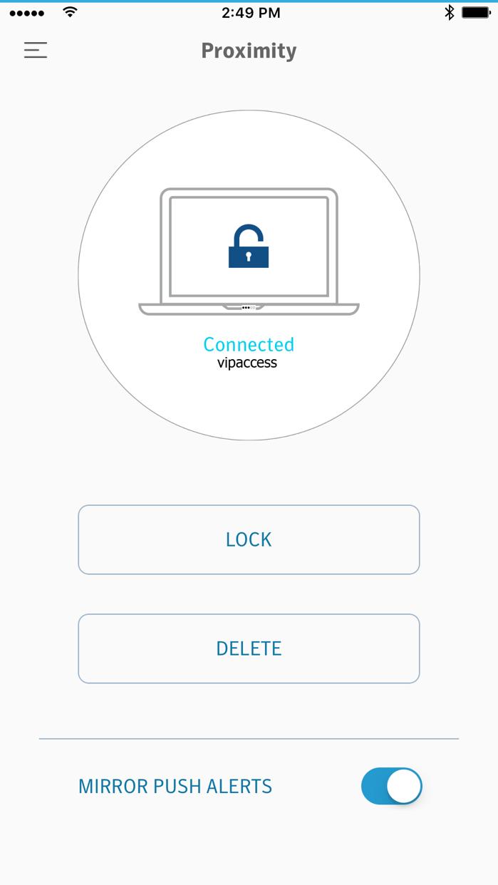 VIP Access for iPhone Screenshot