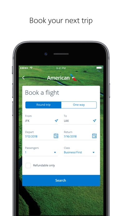American Airlines review screenshots