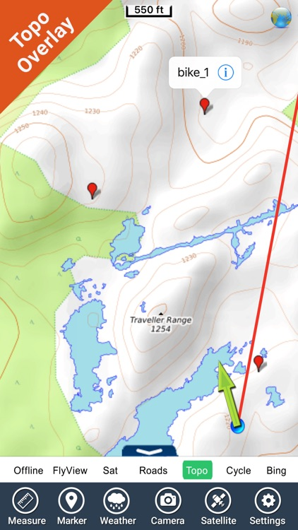 Cradle Mountain-Lake St Clair NP GPS outdoor map