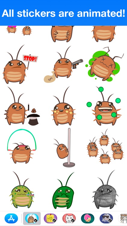 Cockroach - Animated stickers screenshot-3