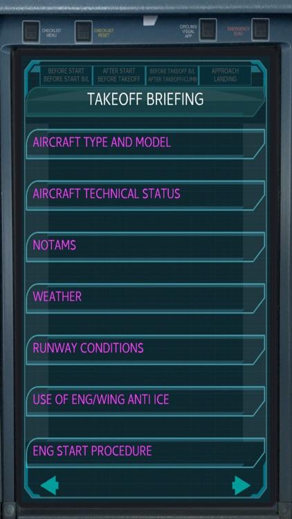 Airbus Pilot EFB checklist