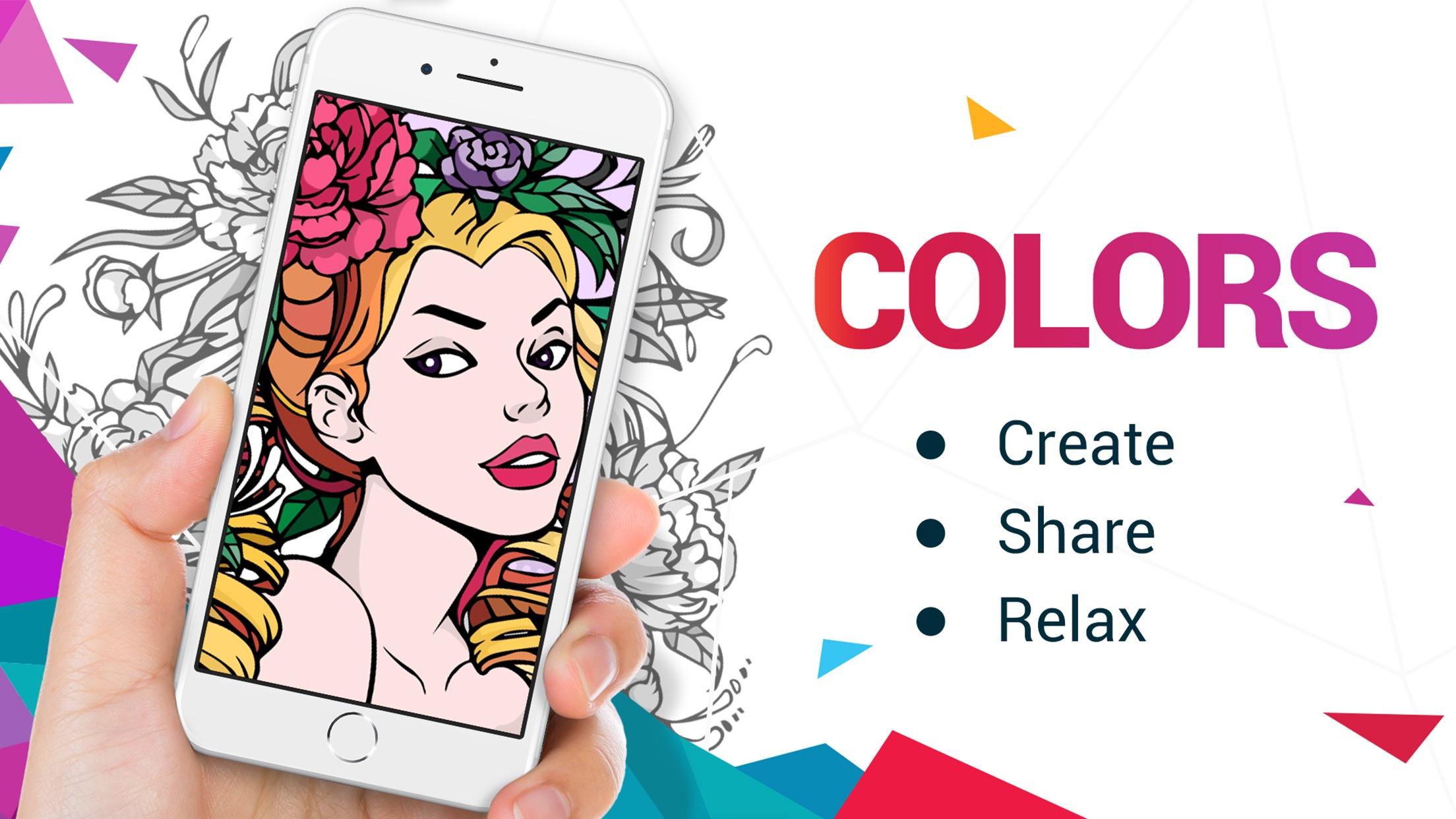 Adult Coloring Book | COLORS Screenshot