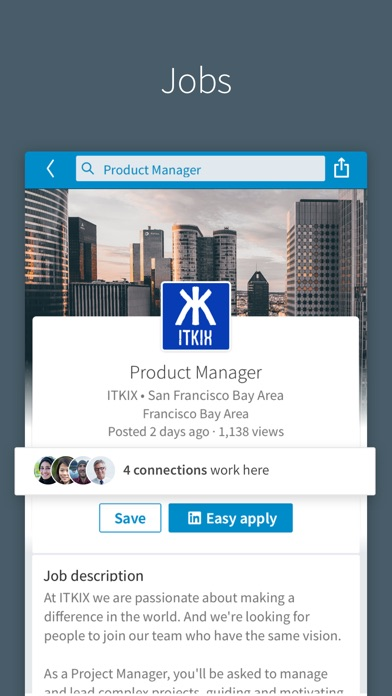 Screenshot of LinkedIn App