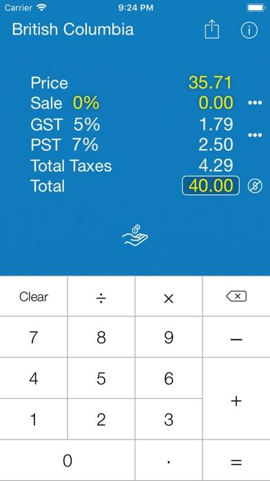 Sales Tax CANADA Calculation
