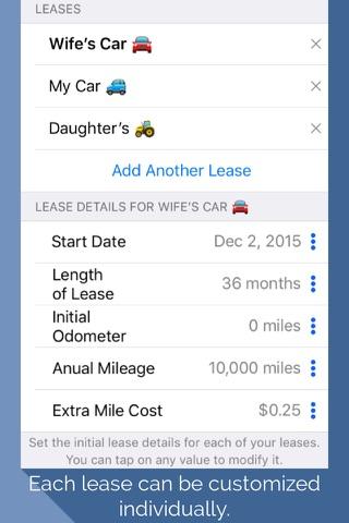 Lease Miles Overage Calculator screenshot 3