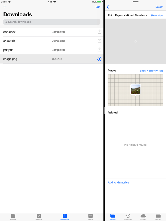 Browser and File Manager for Documents screenshot