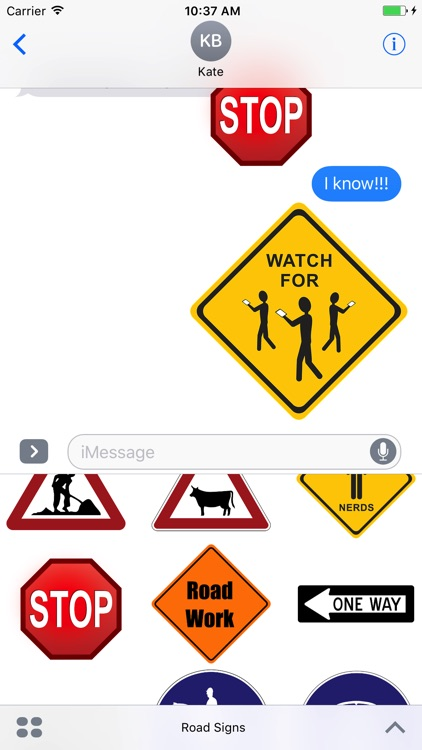 Crazy Road Signs Stickers