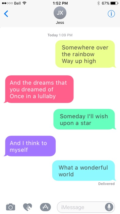 Message Makeover for iMessage - Colorful Bubbles app image
